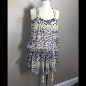 anthropologie freelance top halter tribal size m
