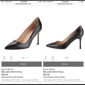 Manolo Blahnik Heels Black size 8.5