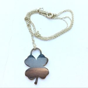 """Tiffany & Co. Lucky Clover Pendent Necklace 24"""""""