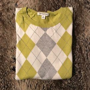 Banana Republic argyle crew neck sweater