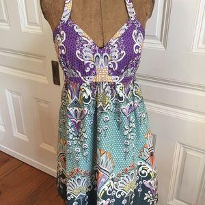 Express Beautiful Patterned Halter Dress