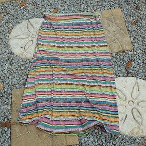 EUC! Lularoe Swiggle Striped Maxi Skirt Sz. 2XL