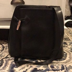 Longchamp cross-body bucket bag