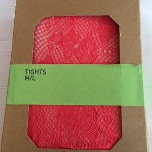Urban Outfitters Pink Abstract Fishnet Tights