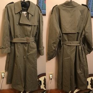 LONDON DOG Double Breasted Belted Trench w/ Lining