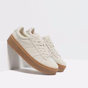 Zara leather sneaker size 8