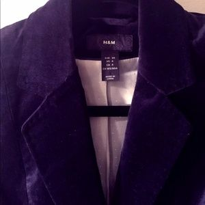 H&M Navy Velvet Blazer