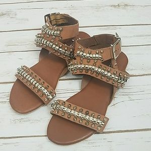 NEW Strappy Studded Buckle Sandals
