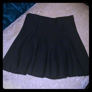 Lady's Petite Mossimo Black Flare Skirt