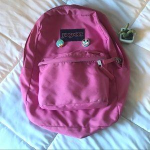 Jansport pink backpack