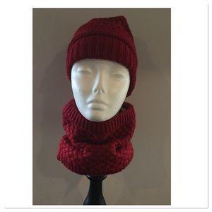 Burgundy Winter Collar Scarf