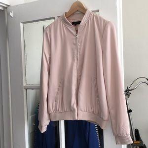 Zara Pink Blush Bomber Jacket M