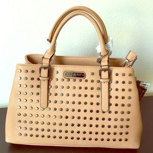 Handbags - Studded satchel handbag.