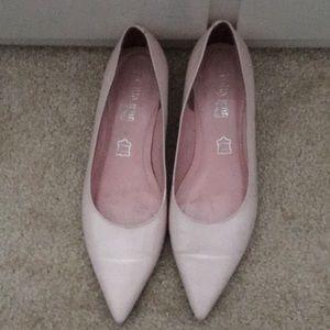 Light pink dressy flats