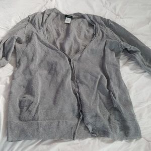J crew cardigan silver gray with sparkles.