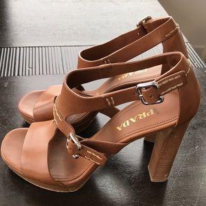 "Prada platform ""Caltazure Donna"" platform sandal"