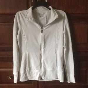 Tek Gear White Zippered Jacket Size M
