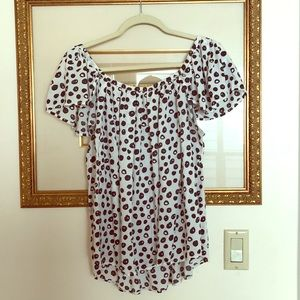 Maeve (Anthropologie) off the shoulder blouse