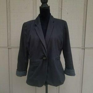 Size L APT9 Black Blazer with Polka Dot Accents