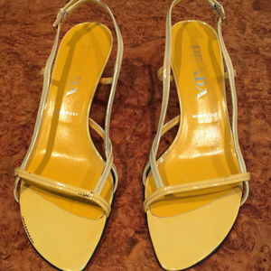 Prada Vintage Yellow/Cream Sandals