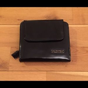 Valentino Black Patent Leather Wallet