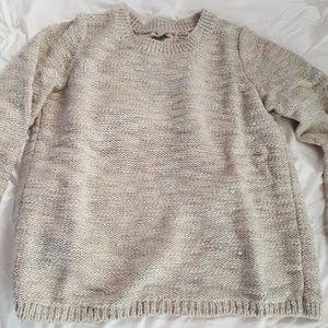 Banana Republic metallic open back sweater