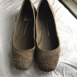 Dolce Vita Suede Flat with Metallic Studs