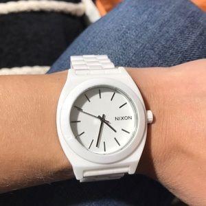 White ceramic Nixon watch