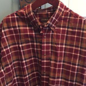 Eddie Bauer Cotton Flannel Shirt XXXLT.  Tall