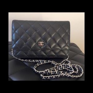 CHANEL CAVIAR LEATHER WOC SILVER HARDWARE