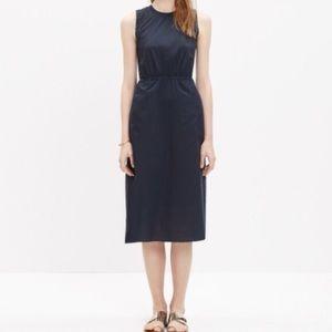 Madewell Navy midi dress