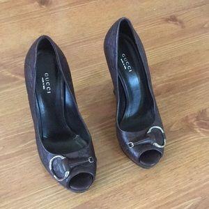 Gucci heels platform