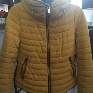 Zara yellow Puffer Jacket