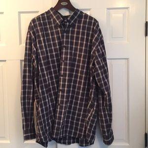 Eddie Bauer plaid cotton shirt 3XLT