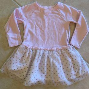 Pink & gold long sleeve Dress 3t like NEW