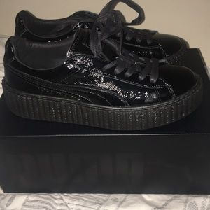 PUMA BY RIHANNA CREEPER PATENT LEATHER in BLACK