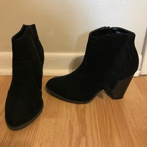 Black velvet booties by bamboo size 7.5