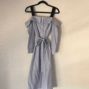 BRAND NEW English Factory off shoulder dress