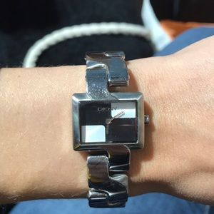 Used DKNY watch.  Black/White face