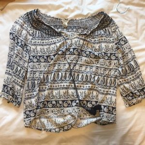A Tribal Print top