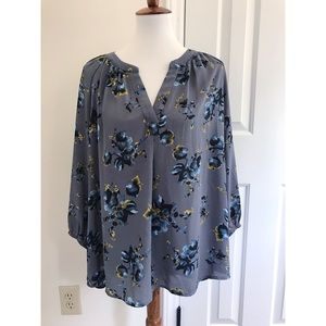 Anthropologie floral print blouse