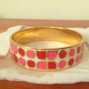 kate spade abstract ks pink & red bangle
