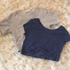 🆕 crop knit tops bundle h&m and Hollister