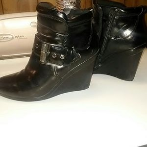 Wedge booties / ankle boots
