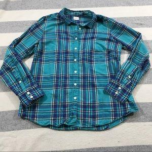 J. Crew Factory The Perfect Shirt Plaid Button M