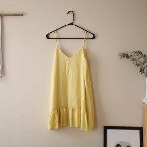 Yellow Strapless Shift Dress