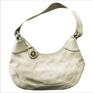 Dooney & Bourke Cream White Leather Shoulder Bag