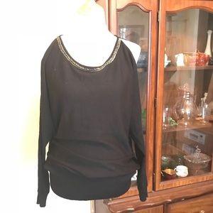 {Lane Bryant} Cold-shoulder sweater