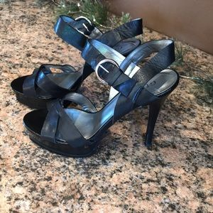 Guess strappy open-toed platform heels