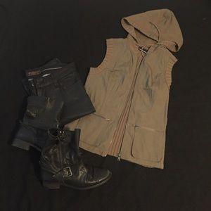 ❤️sold❤️ Donna Karan DKNY Jeans olive Cargo Vest